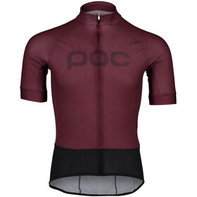 POC Essential Road Logo SS Jersey Men, propylene red/dark propylene red